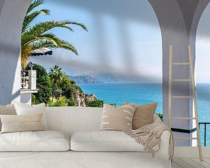 Sfeerimpressie behang: Middellandse zee van Hans Verhulst