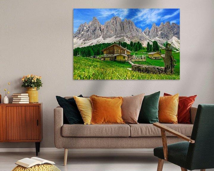 Sfeerimpressie: Almhut in Dolomieten van  Zuid-Tirol van Ralf van de Veerdonk