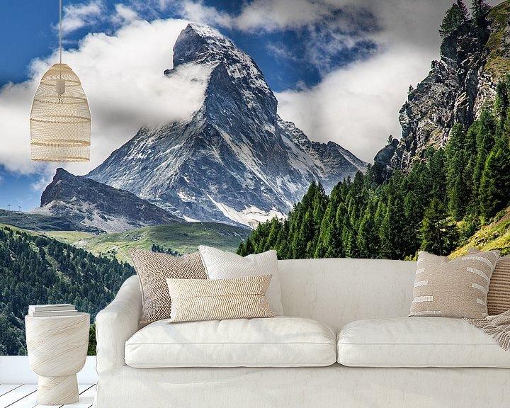 Sfeerimpressie behang: Matterhorn in Zwitserland van Ralf van de Veerdonk