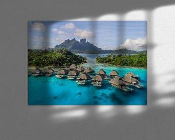 Overwater villa's op Bora Bora