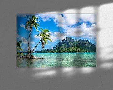 Op een onbewoond eiland op Bora Bora