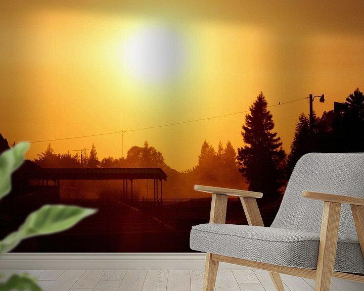 Sfeerimpressie behang: Zonsondergang tijdens roadtrip van Jasper Hovenga