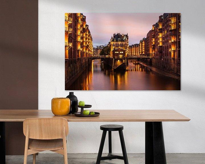 Beispiel: Speicherstadt Hamburg mit dem Wasserschloss von Jiri Viehmann