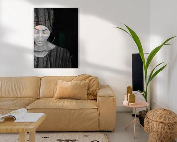 34. Femme, silhouette, portrait, Bloom.