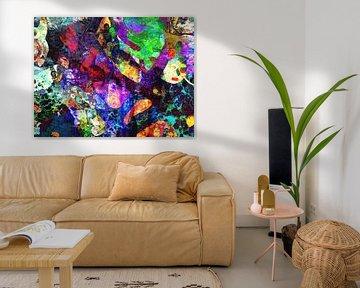Modernes, abstraktes Digital Artwork - Wenn der Donner brüllt von Art By Dominic