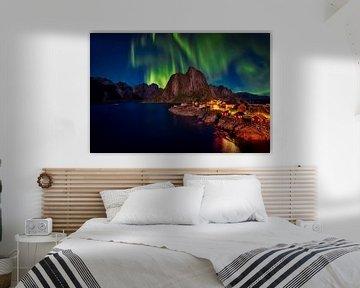 Das Nordlicht auf den Lofoten, Norwegen von Roy Poots