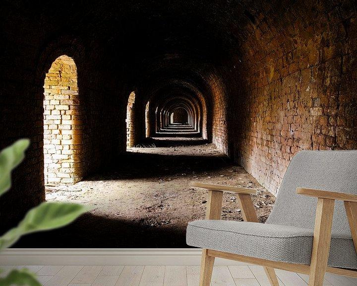 Sfeerimpressie behang: Mysterieuze verlaten steenfabriek van Devin Meijer