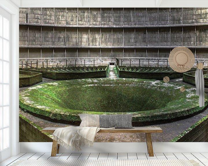 Sfeerimpressie behang: The green Hole van Olivier Photography