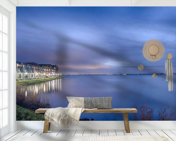 Sfeerimpressie behang: IJselmeer bij avond van Paul Tolen