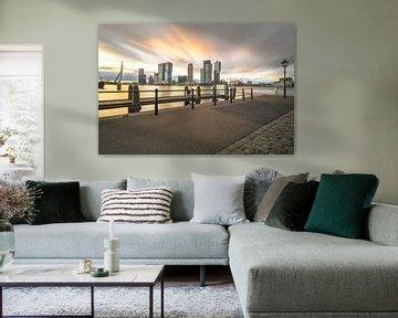 Zonsopgang Veerhaven Rotterdam von AdV Photography