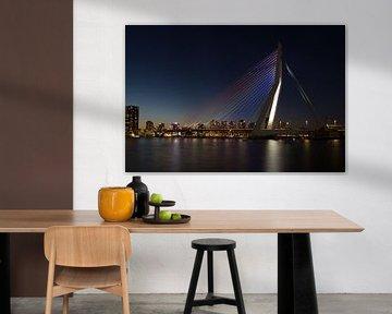 Erasmusbrug Rotterdam von Peter Hooijmeijer