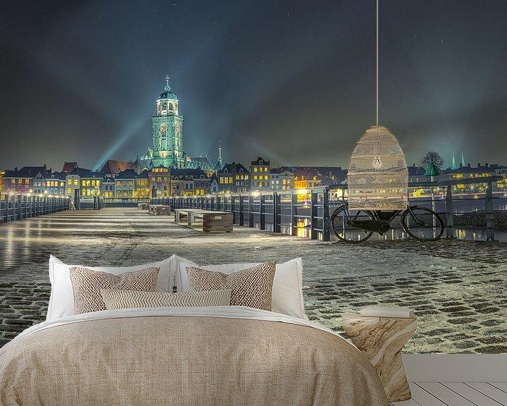 Sfeerimpressie behang: Skyline Deventer van Jeroen Weideman