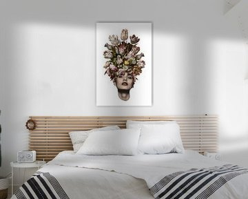 Tulp (witte achtergrond) van toon joosen