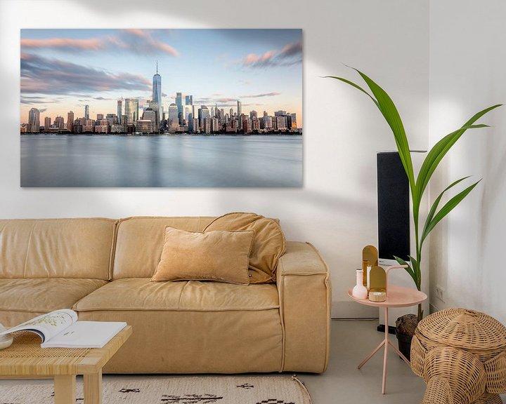 Sfeerimpressie: New york city skyline tijdens zonsondergang van Marieke Feenstra