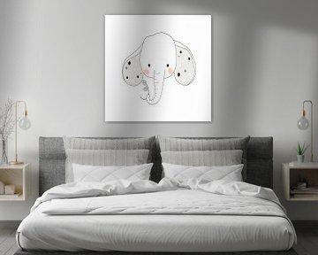 Babykamer, wanddecoratie, grijs wit zwart, van AMB-IANCE .com