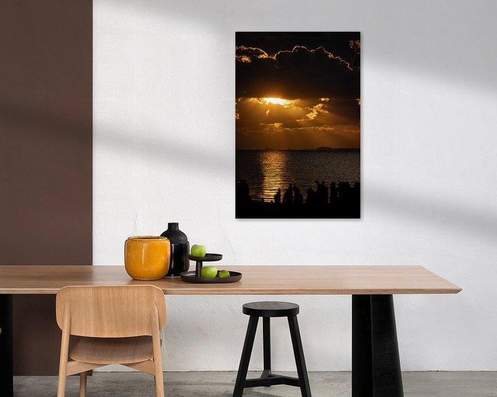 Sfeerimpressie: Moddergat, Friesland, Sundown, Magical evening. van Frank Slaghuis