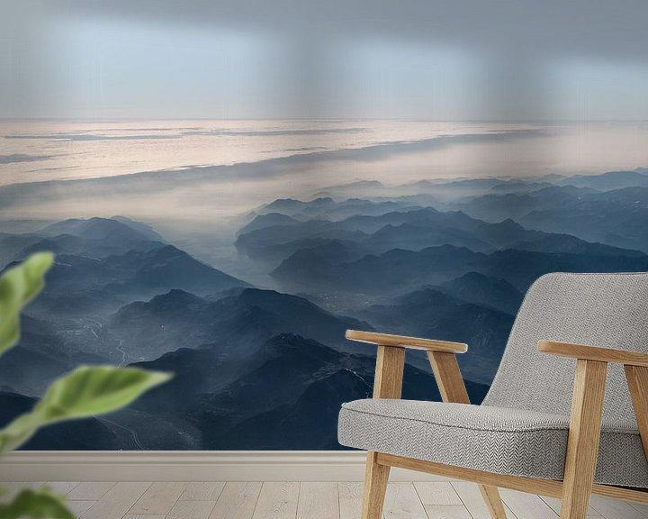 Sfeerimpressie behang: Mountain view van Marieke Feenstra
