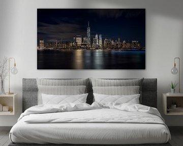 New York City Abendskyline von Marieke Feenstra