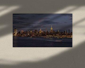 New York City Skyline bei Nacht von Marieke Feenstra