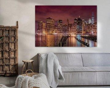 NEW YORK CITY Impression bei Nacht von Melanie Viola