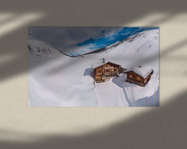 Sfeerimpressie: Het Sertigtal, Sertig Sand, Davos, Graubünden, Zwitserland van Rene van der Meer