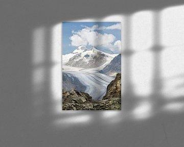 Der Aletschgletscher in der Schweiz