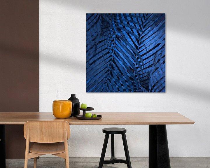 Beispiel: TROPICAL NEBULAS BLUE LEAVES-B von Pia Schneider