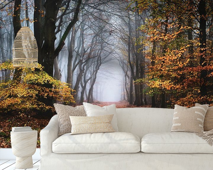 Sfeerimpressie behang: De rand van de herfst van Tvurk Photography