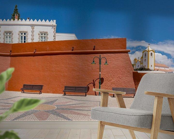 Sfeerimpressie behang: Fortaleza da Luz, Igreja da Nossa Senhora da Luz , Luz, Algarve, Portugal van Rene van der Meer