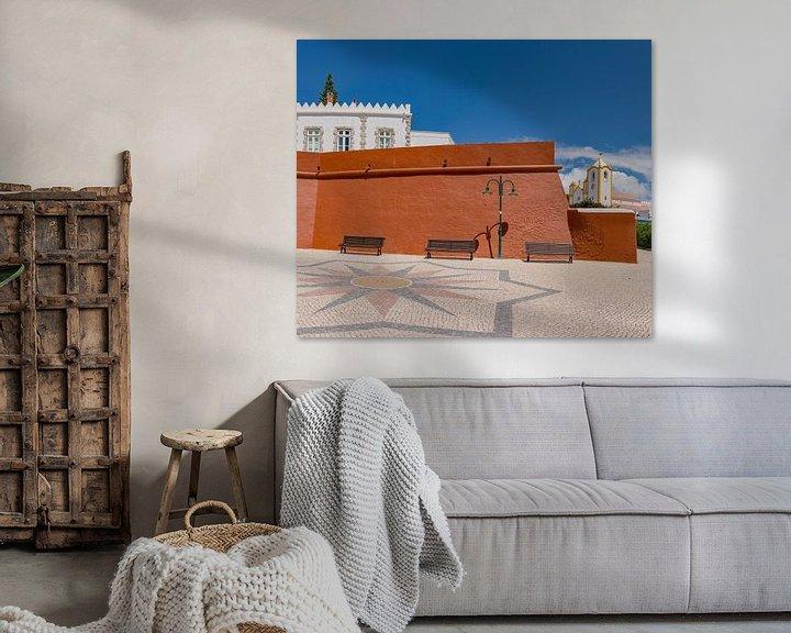 Sfeerimpressie: Fortaleza da Luz, Igreja da Nossa Senhora da Luz , Luz, Algarve, Portugal van Rene van der Meer