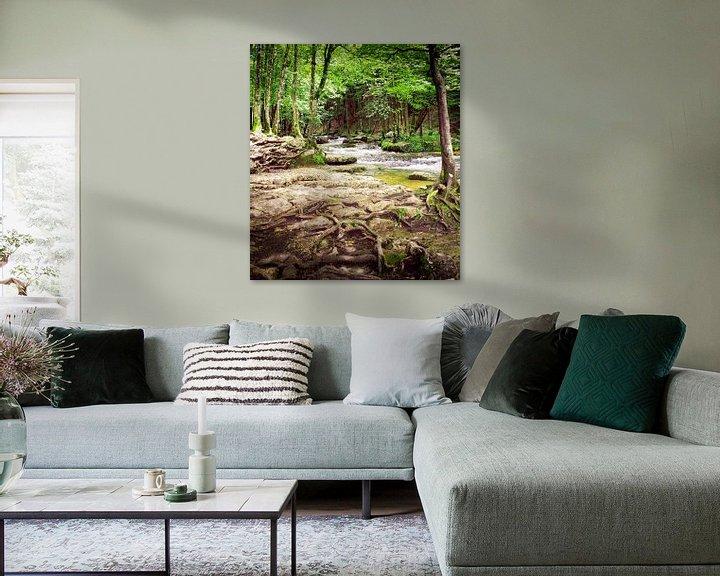 Sfeerimpressie: Watervallen van Herisson in de Jura in Frankrijk van Gabi Gaasenbeek
