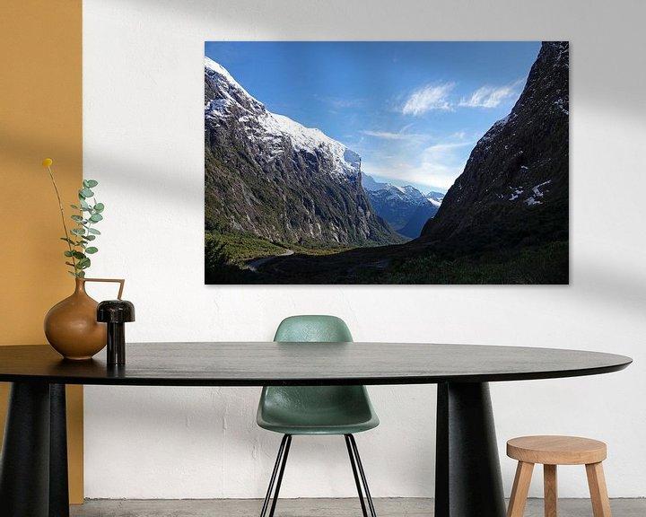 Sfeerimpressie: Cleddau Valley op weg naar Milford Sound in Nieuw Zeeland van Aagje de Jong