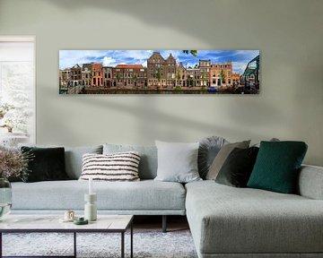 Leiden Oude Rijn panorama van Dennis van de Water