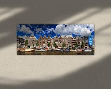 Prinsengracht grachtenpanden Amsterdam van Dennis van de Water