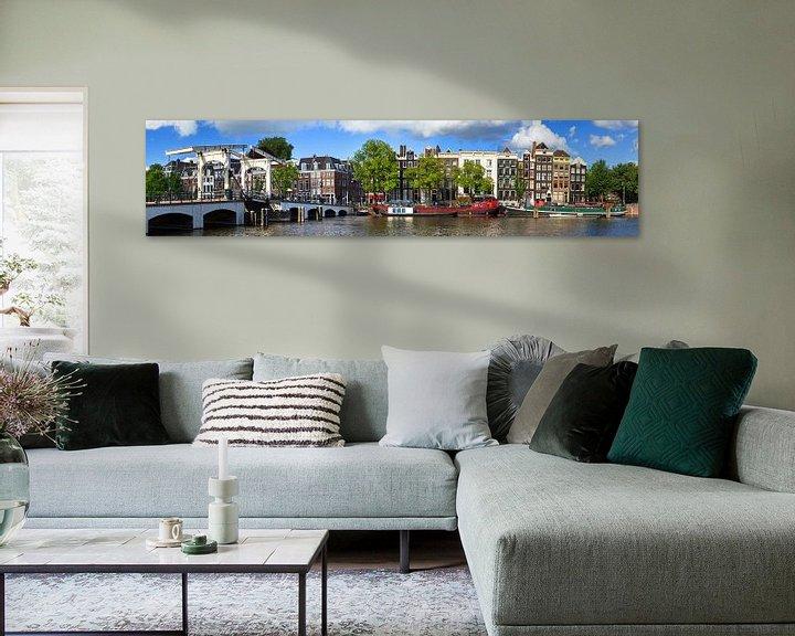 Sfeerimpressie: Amstel en Magere brug panorama van Dennis van de Water