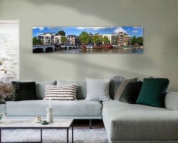 Amstel en Magere brug panorama van Dennis van de Water