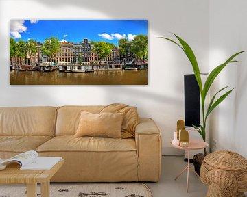 Schaduwgracht Amsterdam panorama von Dennis van de Water