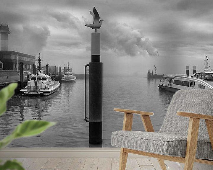 Sfeerimpressie behang: Berghaven Hoek van Holland van Daan Overkleeft