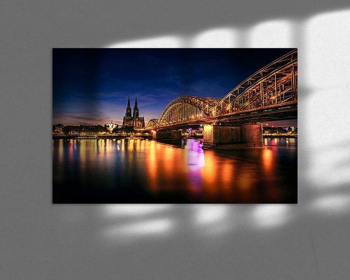 Sfeerimpressie: Stadsgezicht Keulen, Duitsland van Martijn van Steenbergen