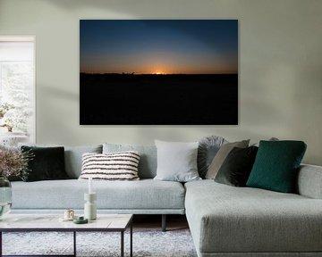 zonsondergang loonse en drunense duinen van Bas van Mook