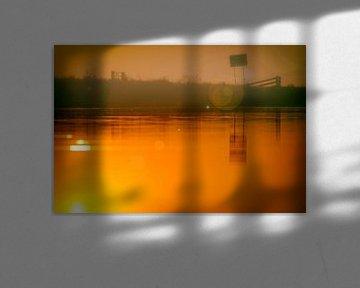 Zonsondergang de Laak von Studio de Waay