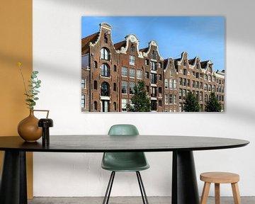 Gevels aan de Prinsengracht in Amsterdam von Dennis van de Water