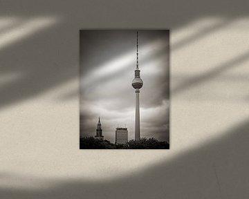 Schwarzweiss-Fotografie: Berlin – Fernsehturm von Alexander Voss