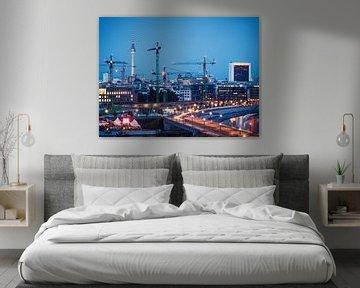 Blue Hour in Berlin van Alexander Voss