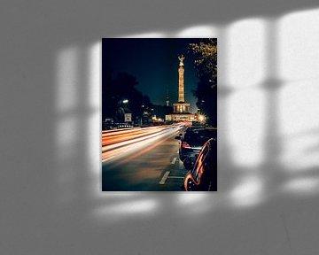 Berlin bei Nacht – Strasse des 17. Juni / Siegessäule von Alexander Voss