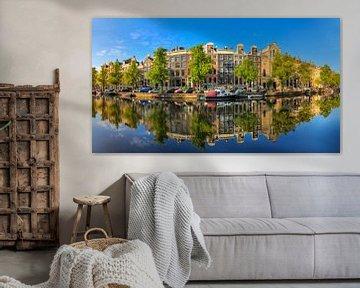 Keizersgracht reflectie panorama von Dennis van de Water