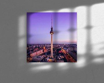 Berlin – Skyline / TV Tower van Alexander Voss