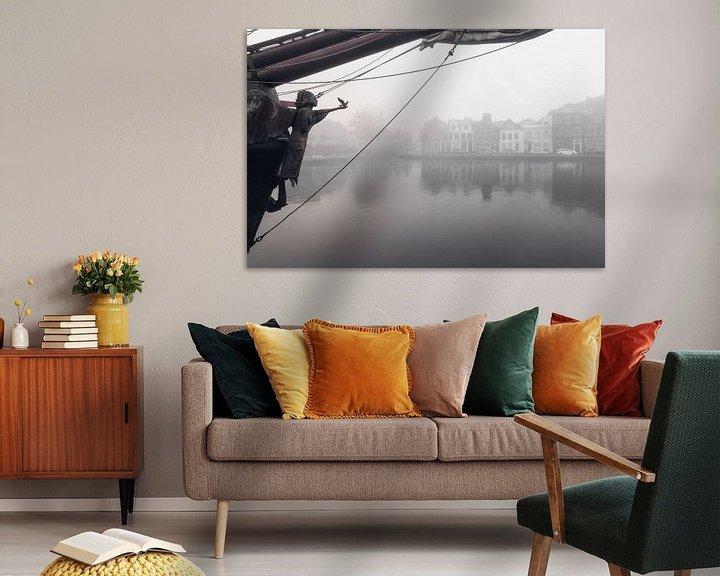 Sfeerimpressie: Haarlem: boegbeeld Soeverein. van Olaf Kramer