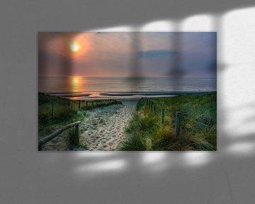 Sunset @ Noordwijk van Arjan Niemeijer