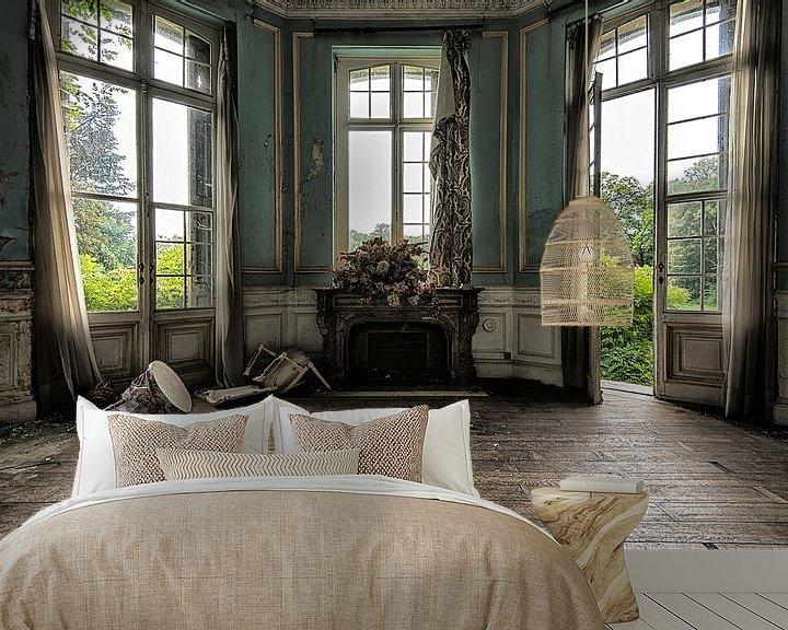 Sfeerimpressie behang: Chateau Cinderella van Marian Smeets